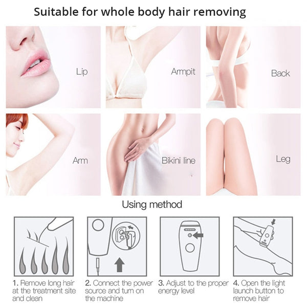 How do I use the Bareskin laser hair removal device?