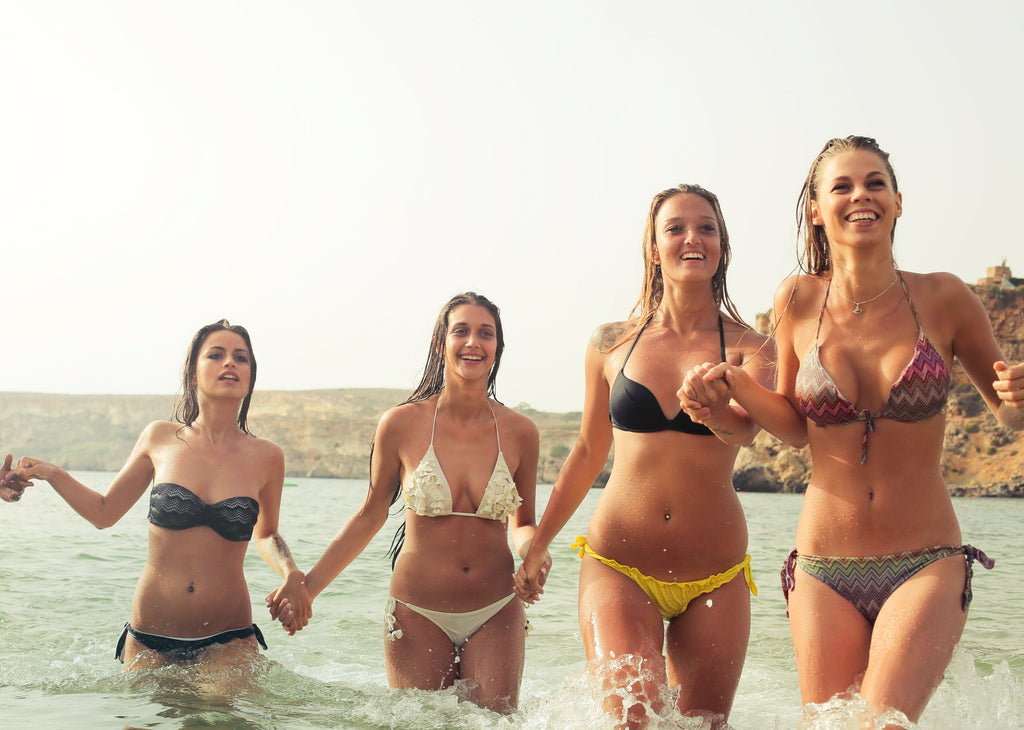 4 girls with brazilian laser hair removal