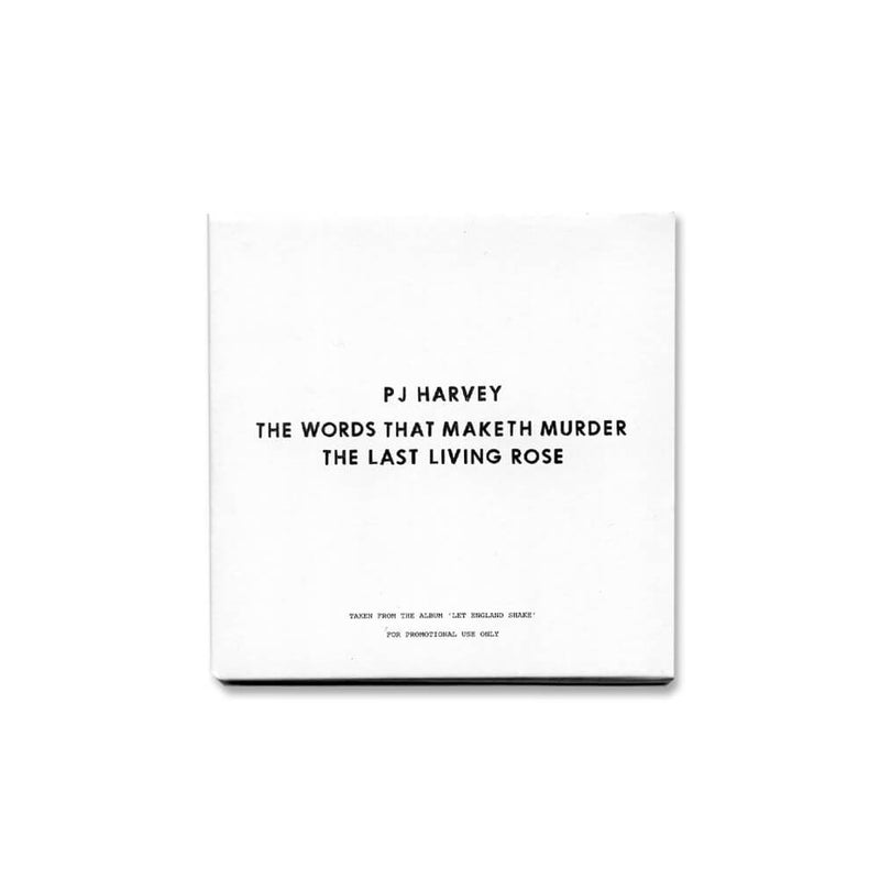 The Words That Maketh Murder / The Last Living Rose (Promo CD)