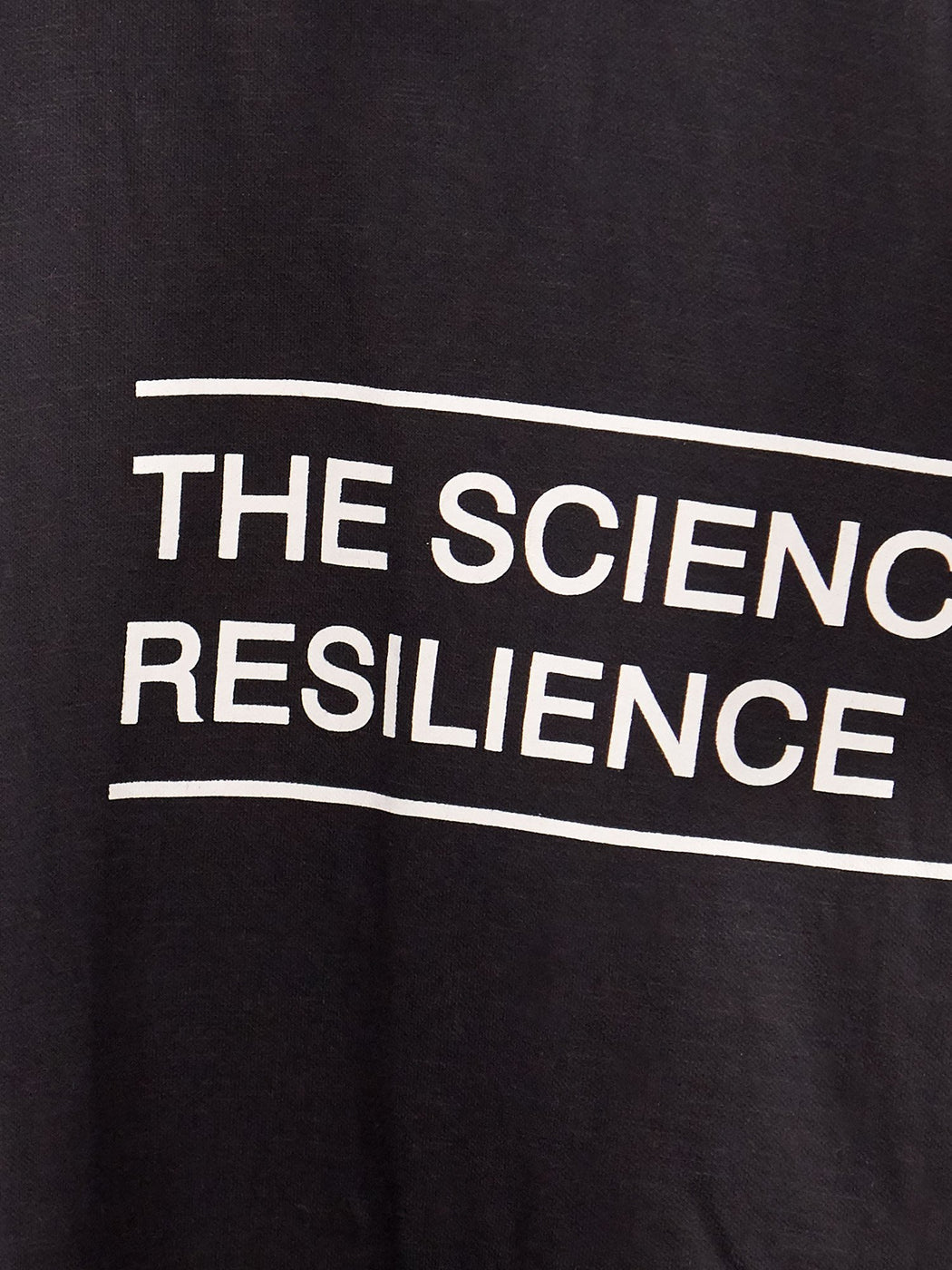 Unisex Science of Resilience Black Male T-shirt