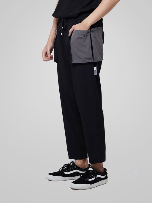 Grey Utilitarian Cargo Male Pants