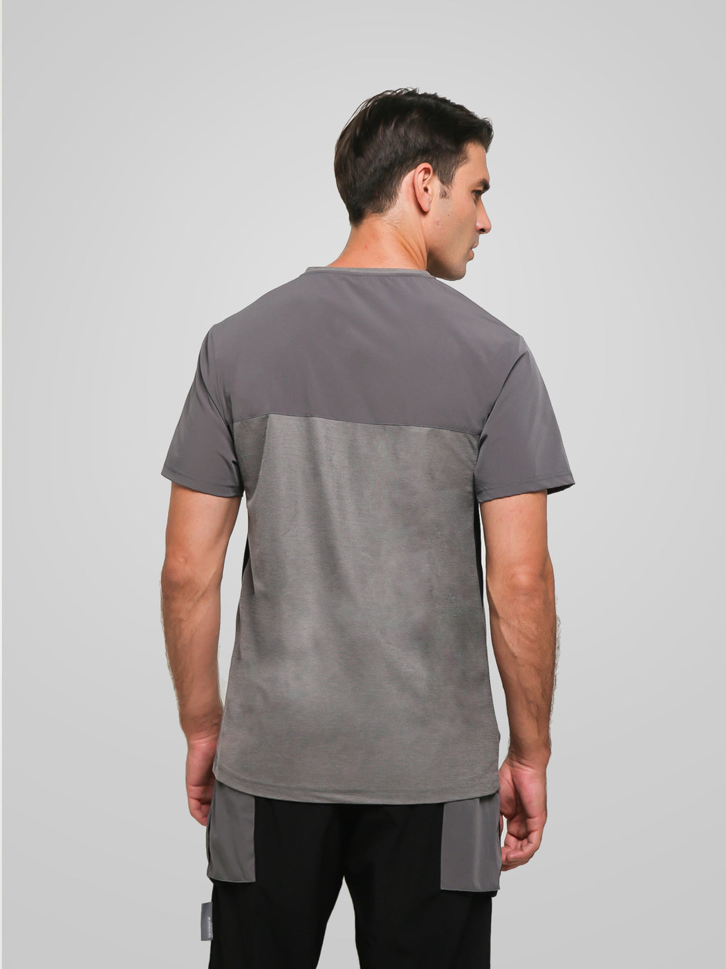 Unisex Ultimate Utilitarian Grey Male T-shirt