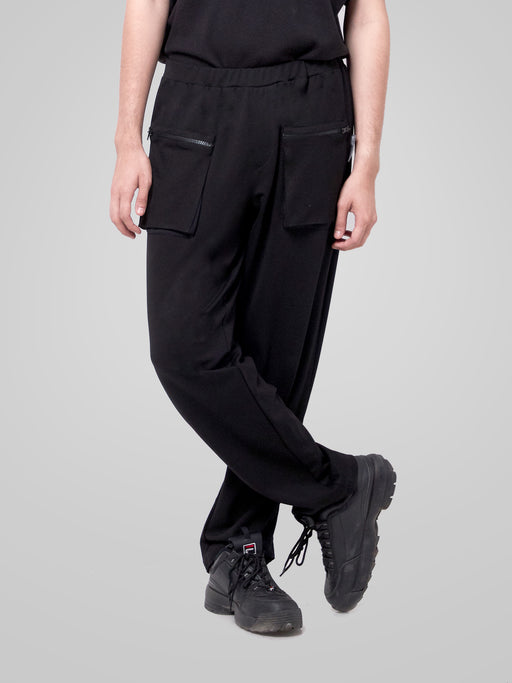 Black Racing Male Pants