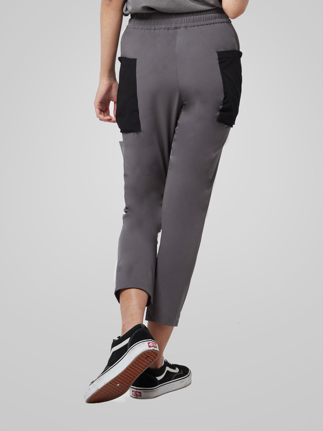 Grey Utilitarian Cargo Female Pants
