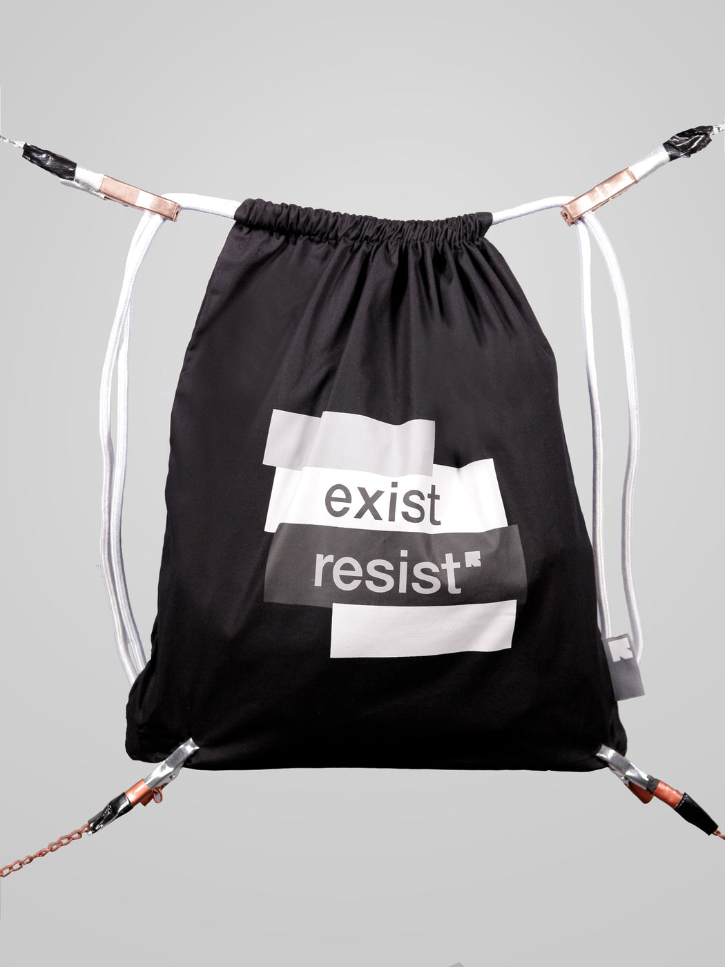 Unisex Everyday Black Drawstring Bag
