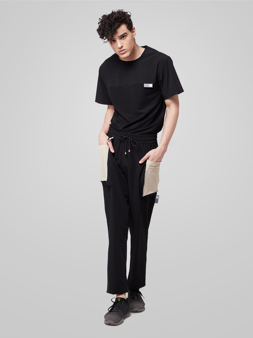 Black Utilitarian Cargo Male Pants