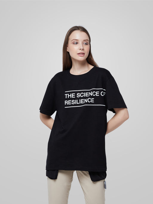 Unisex Science of Resilience Black Female T-shirt