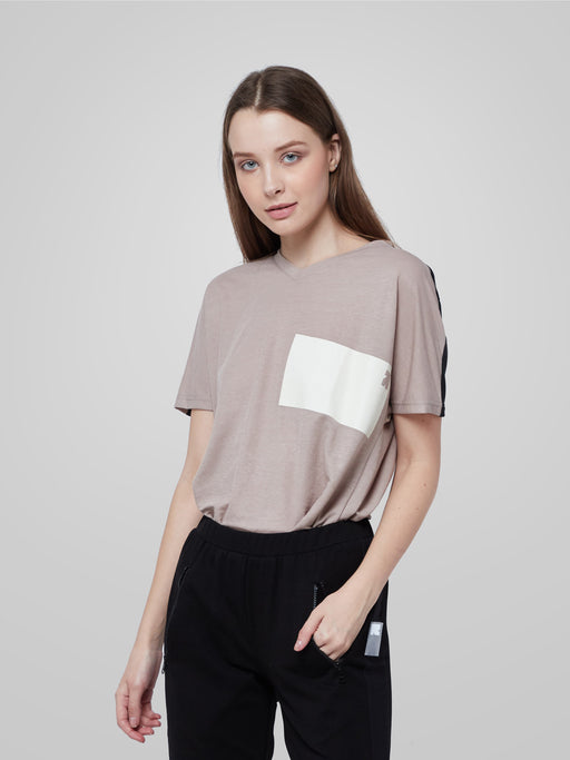 Utilitarian Beige Crop Top