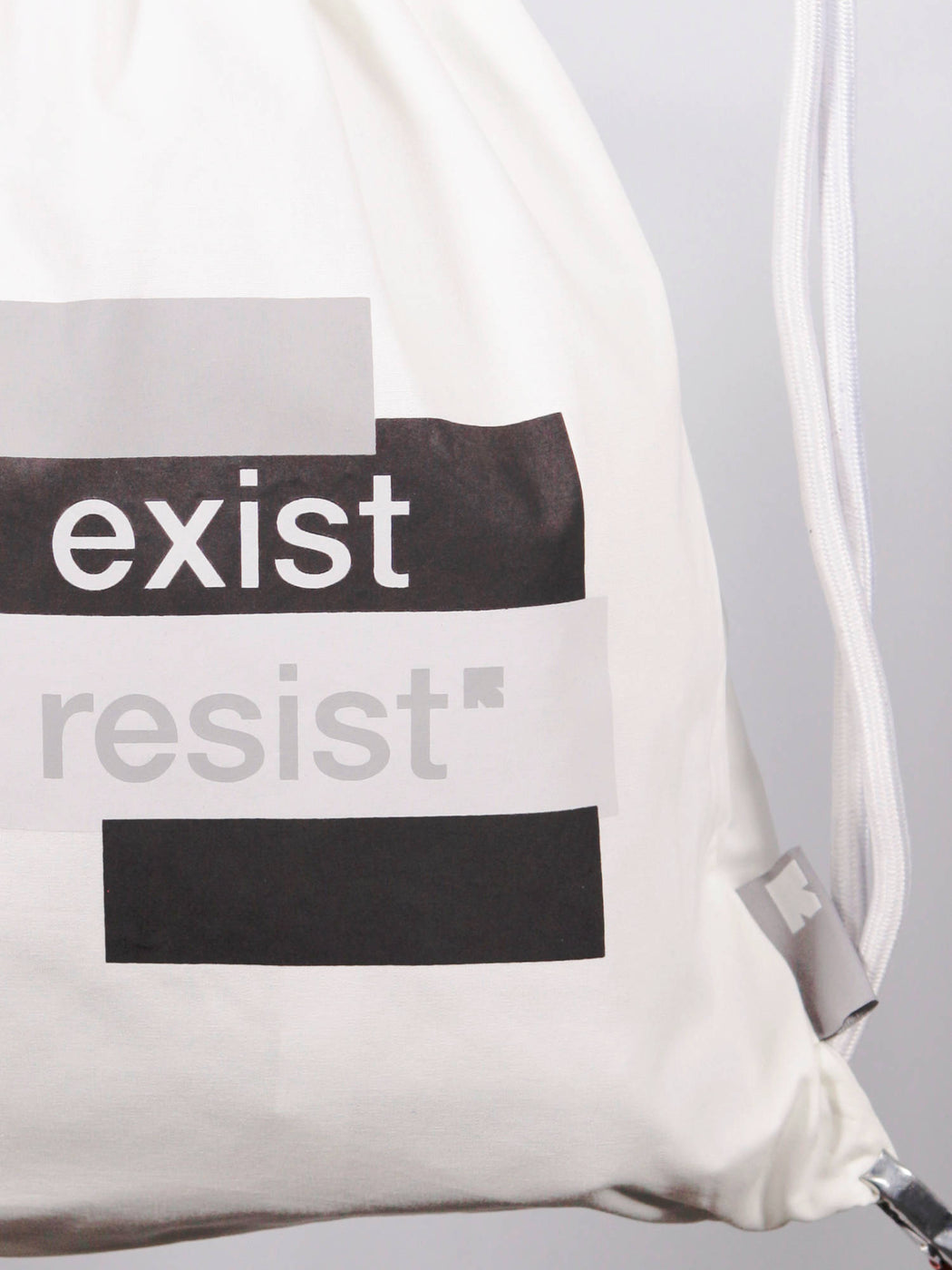 Unisex Everyday White Drawstring Bag