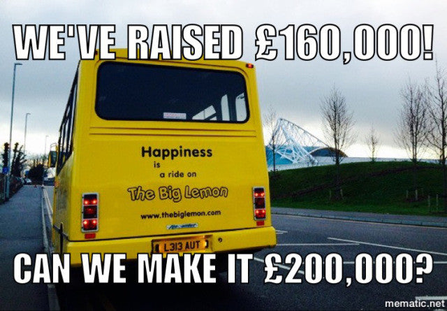 The Big Lemon raises £100,000 for an electric bus... and another £60,000 towards a second one!