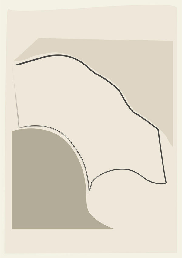 ARCHED - Abstract Nude - Sage Green