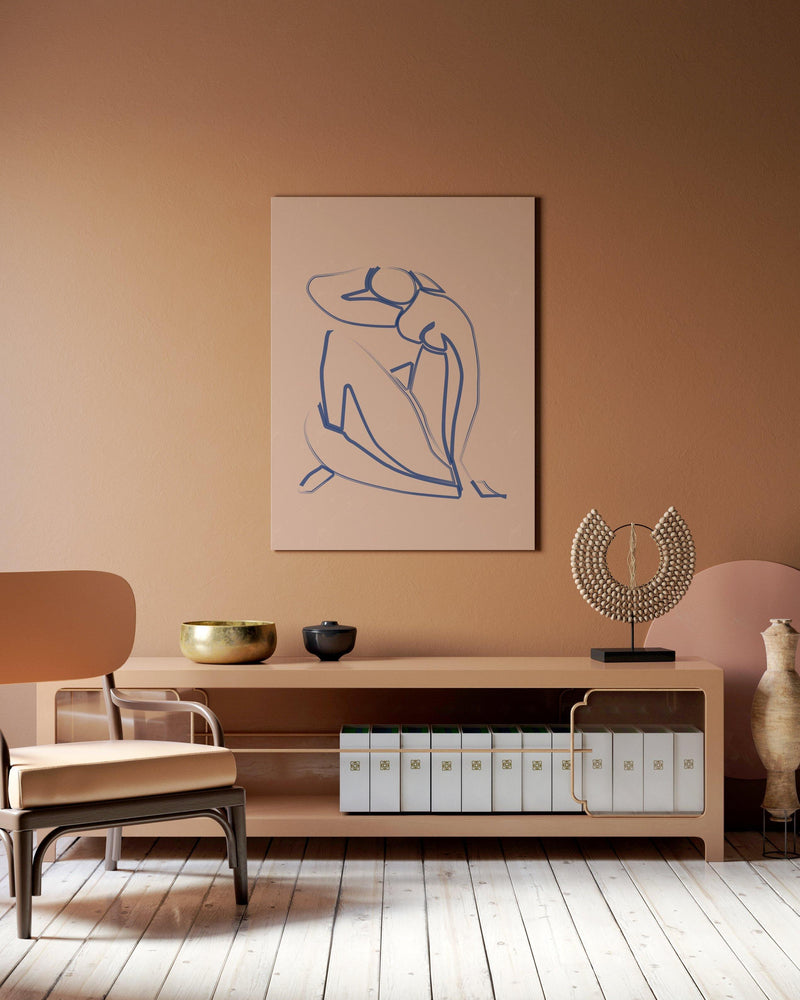 Blue Lady - Matisse Print - Flower Love Child