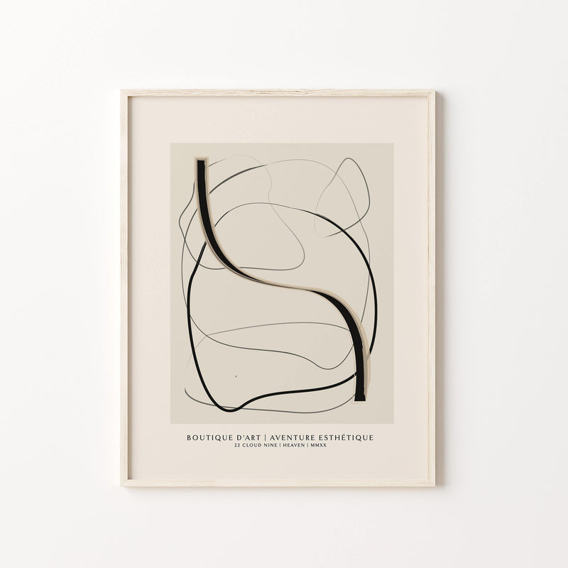 Boutique 1 - Abstract Exhibition Poster - GALERIE BOHÈME