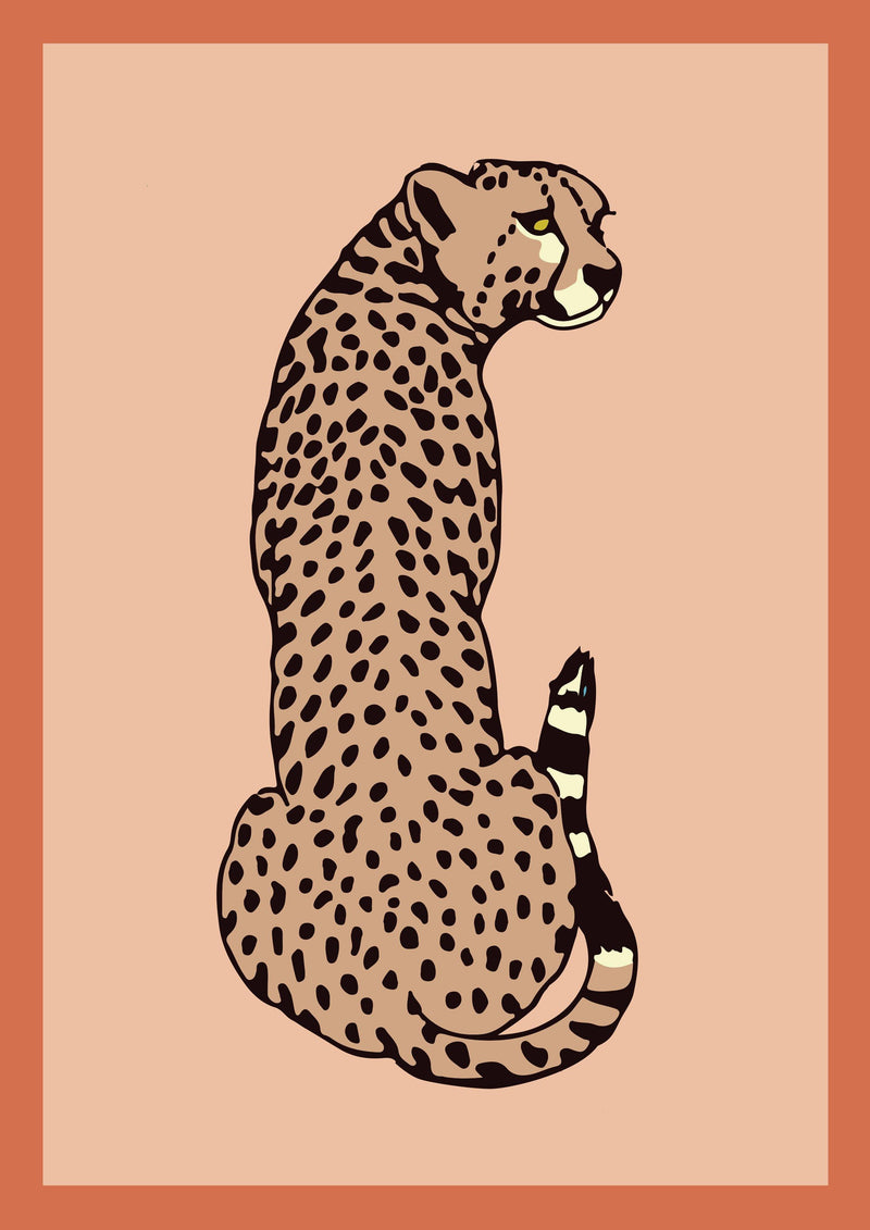 Cheetah - Vintage Animal Print - Hermes