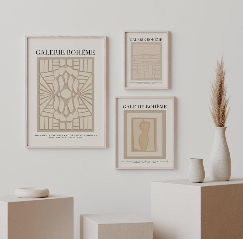 GALERIE BOHÈME - Exhibition Poster - Beige III