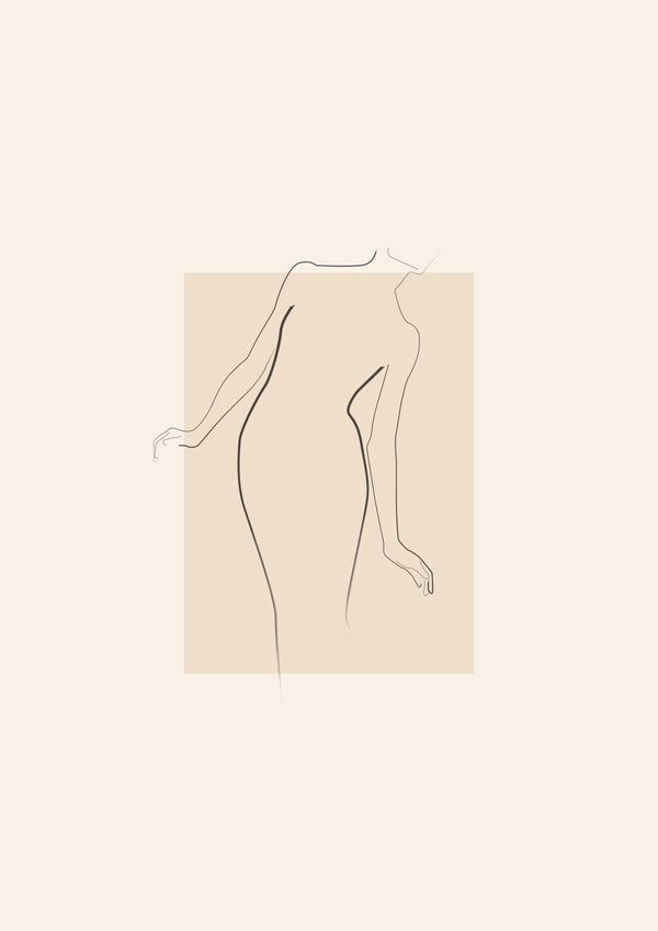 Wall Art Print - Lady 1 Nude Illustration Poster