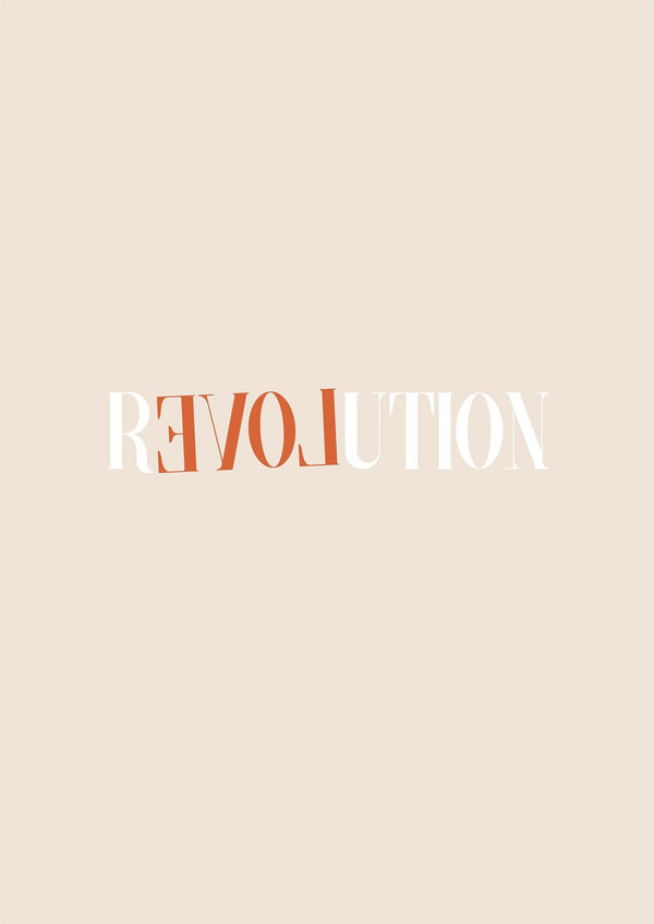 REVOLUTION - Typography Print - Flower Love Child