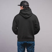 Men's Jet Black Basic Cotton Hoodie Sweatshirt
