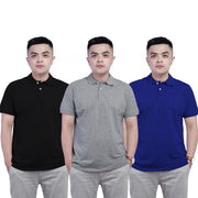 Men's Polo Tshirt-Pack Of 3 (Black-Grey-Navy Blue)