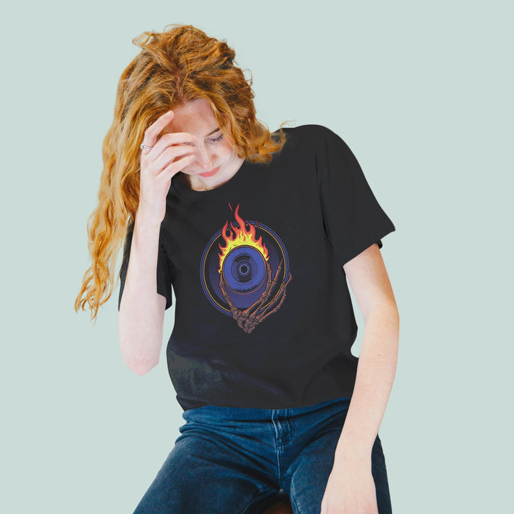 Flaming Eye Women's Tshirt