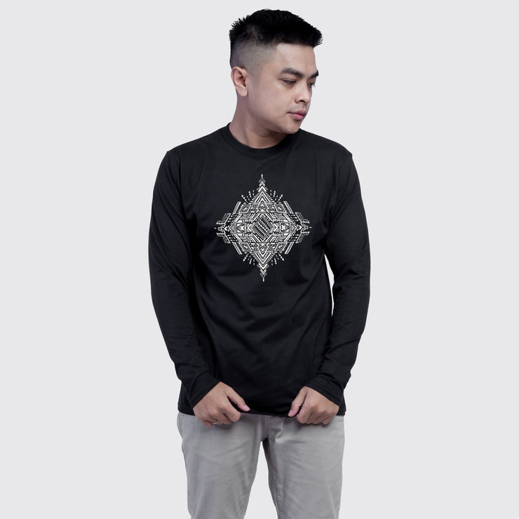 Monochrome Sacred Arrow Men's Full Sleeves Tshirt