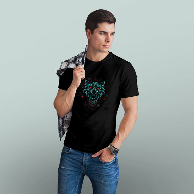 Dark Wolf Awakening Men's Tshirt