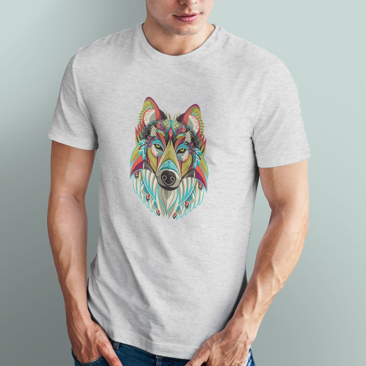 Wolf Tribal Mandala Art Men's Tshirt