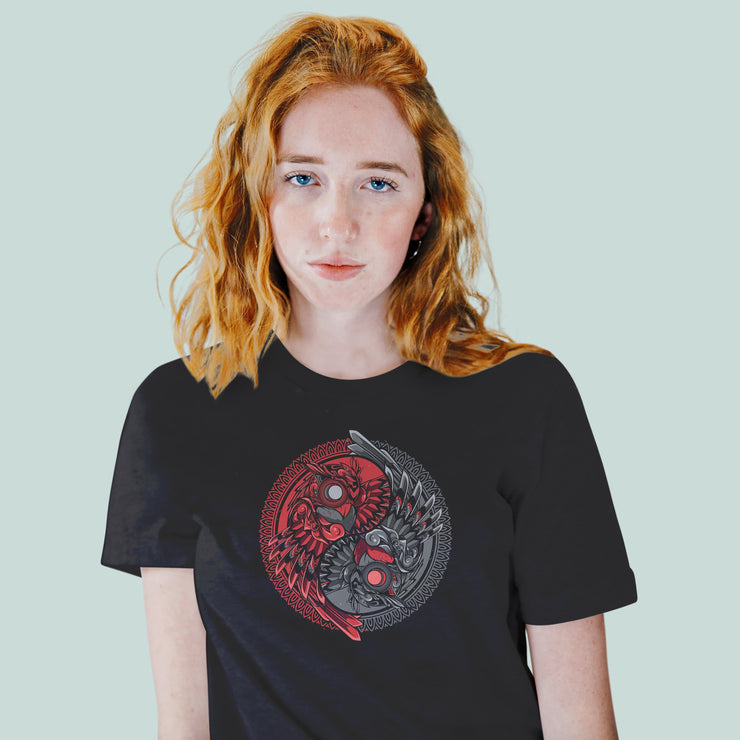 The Ying & Yang Owl Women's Tshirt