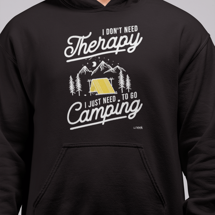 Wilderness is Therapy Men's Black Hoodie