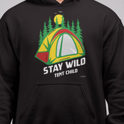 Stay Wild Tent Child Men's Black Hoodie