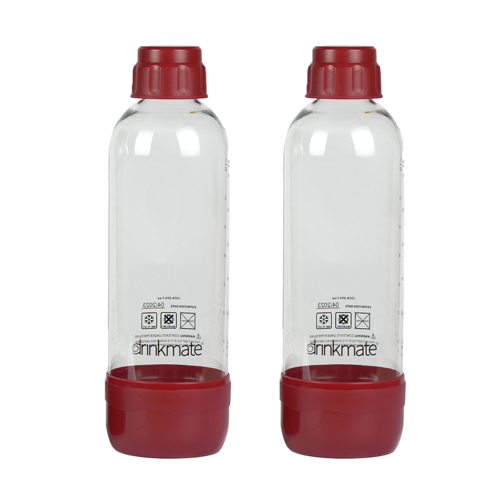 Drinkmate 1 Liter Bottles - 2 Pack