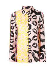 Luisa Cerano Lips Pink and Yellow Blouse Buy Now