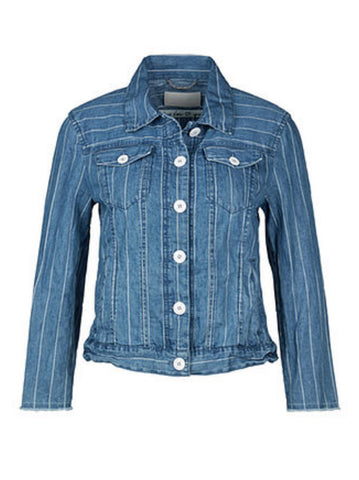 Marc Cain Striped Denim Jacket