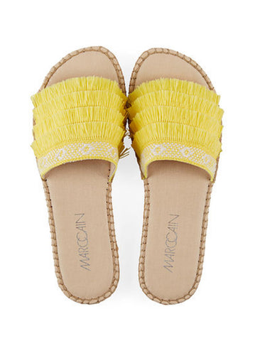 Marc Cain Tassel Mules Yellow