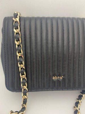 abro Handbags 1 Abro Black Gold Chain Quilted Bag 028657-57 izzi-of-baslow