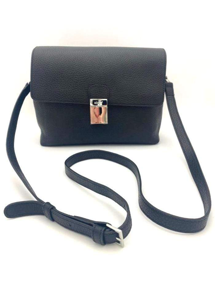 abro Handbags 1 Abro Black Leather Cross Body Bag 028737-37 izzi-of-baslow