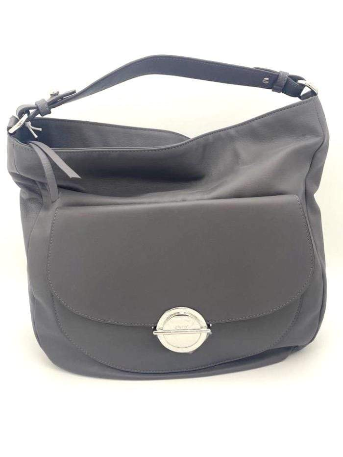 abro Handbags 1 Abro Dark Grey Front Buckle Pocket Leather Handbag 028733-79 izzi-of-baslow