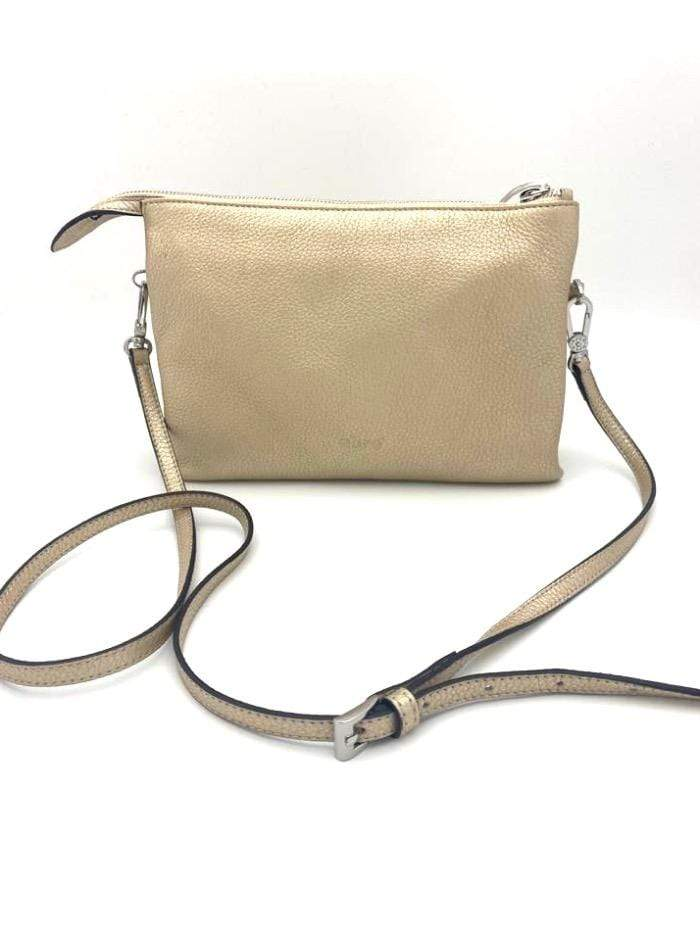 abro Handbags 1 Abro Gold Cross Body Leather Handbag 028300-18 izzi-of-baslow