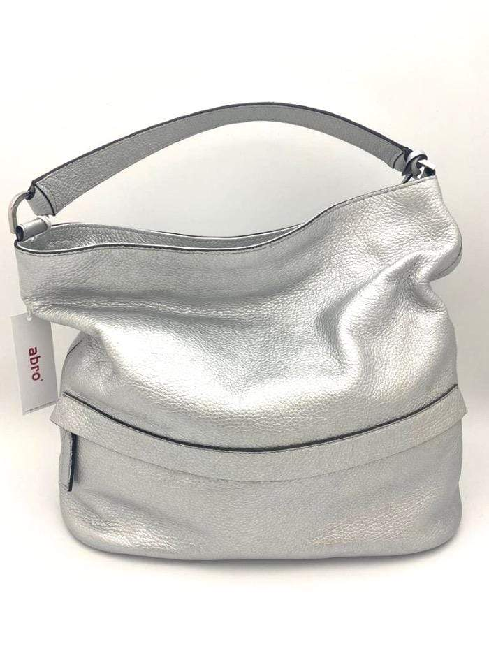 abro Handbags 1 Abro Metallic Silver Leather Handbag 023365-18 izzi-of-baslow