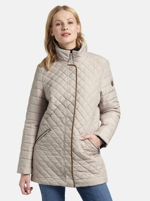 Basler Coats and Jackets Basler Biscuit Outdoor Quilted Jacket 1206110601 izzi-of-baslow