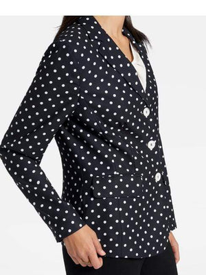 Basler Coats and Jackets Basler Spotty Blazer Black Off-White 2201802801 izzi-of-baslow