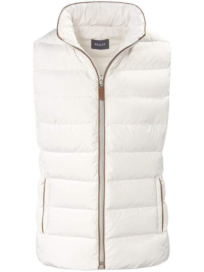 Basler Coats and Jackets Basler Winter White Quilted Gilet 1208100101 izzi-of-baslow