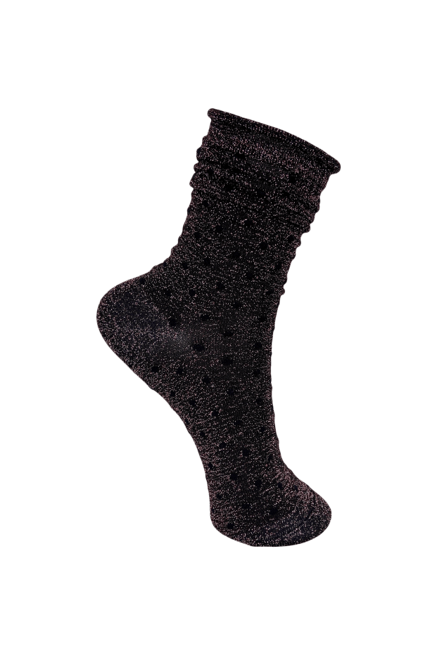Black Colour Accessories One Size Black Colour Gazelle Glitter Dot Sock Rose Pink 4237 izzi-of-baslow