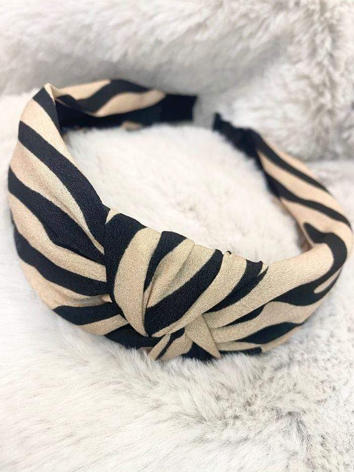 Black Colour Accessories One Size Black Colour Hair Band Allie Zebra Rose 2040 izzi-of-baslow