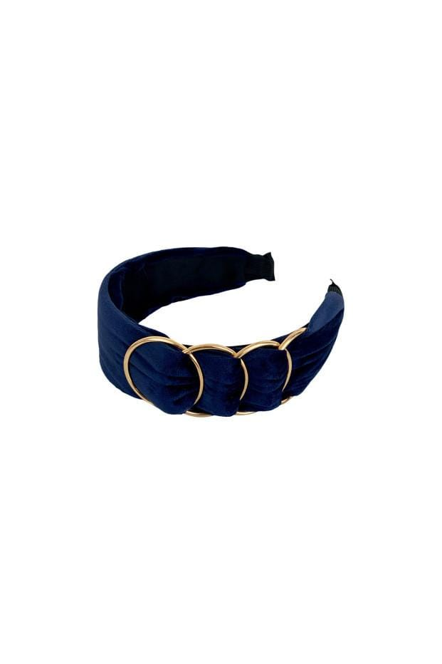 Black Colour Accessories One Size Black Colour Hair Band Haze Gold Ring In Navy 2002 izzi-of-baslow
