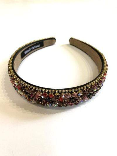 Black Colour Accessories One Size Black Colour Hair Band Jewelled izzi-of-baslow