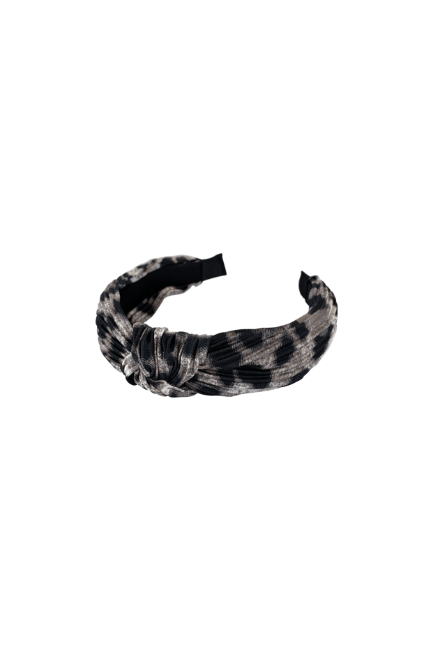Black Colour Accessories One Size Black Colour Hair Band Naja Leo Plisse Grey 2038 izzi-of-baslow