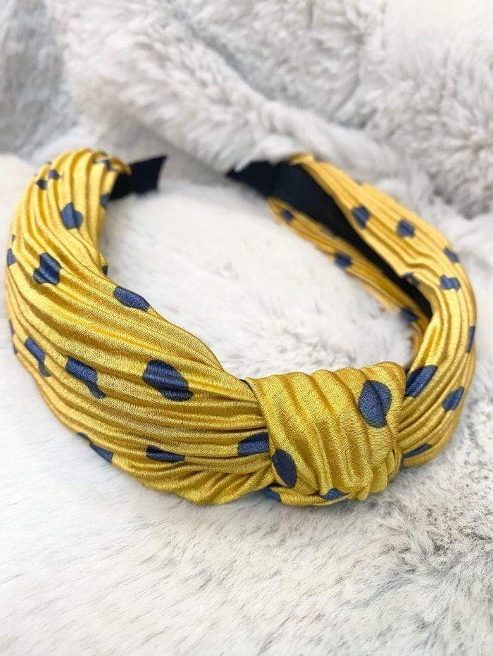 Black Colour Accessories One Size Black Colour Hair Band Spot Gita Dot Yellow 2041 izzi-of-baslow