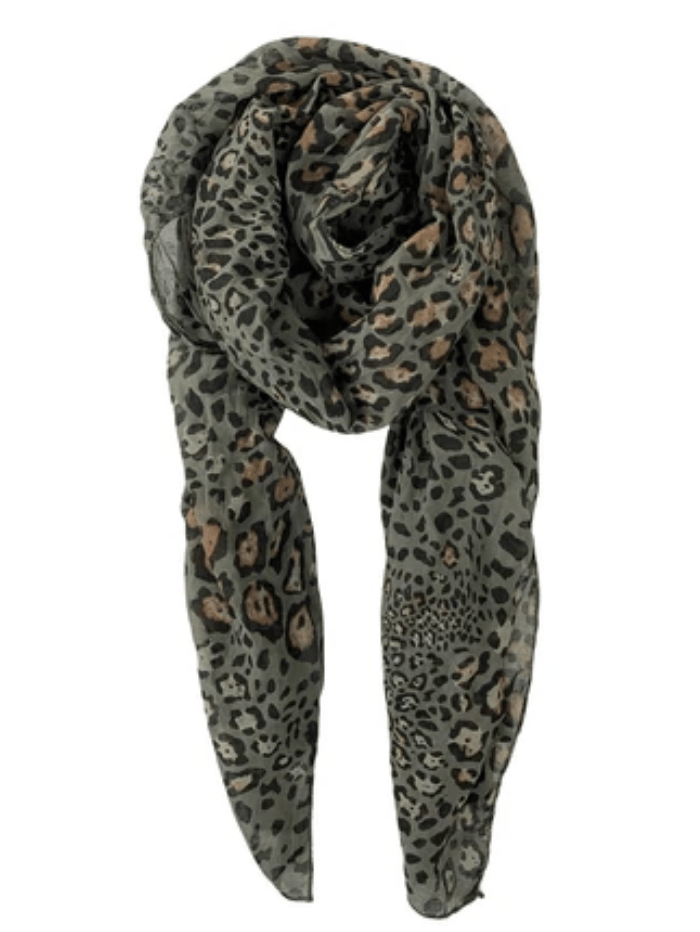 Black Colour Accessories One Size Black Colour Izzy Leo Scarf Olive 208152 izzi-of-baslow