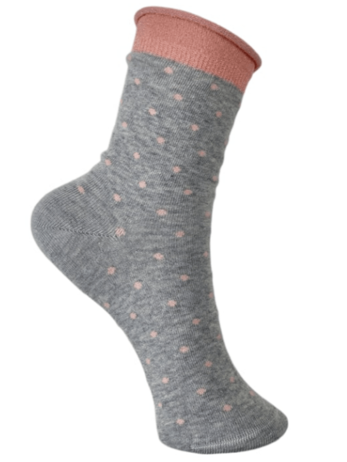 Black Colour Accessories One Size Black Colour JO Dotted Socks Grey 4240 izzi-of-baslow
